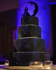 """""""If you don't have a Galaxy Cake at your own wedding, do you even like space? Galaxy Wedding, Starry Night Wedding, Moon Wedding, Celestial Wedding, Beautiful Wedding Cakes, Beautiful Cakes, Amazing Cakes, Galaxy Cake, Themed Wedding Cakes"""