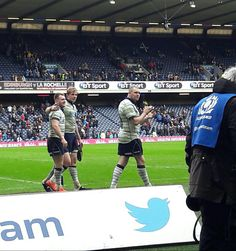 Scotland rugby team from trackside .