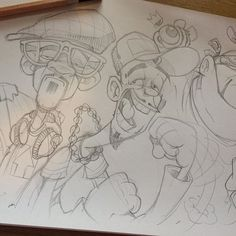 Just sketching a load of old nonsense in between jobs... #cheo #sketch
