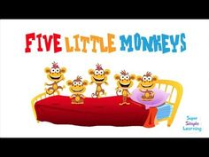 ▶ Five Little Monkeys! - YouTube For more pins like this visit: http://pinterest.com/kindkids/music-and-videos-charlottes-clips/