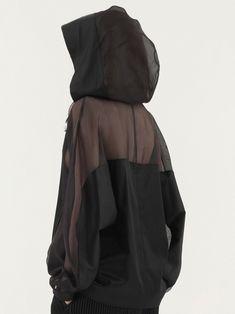 silk hooded shirt
