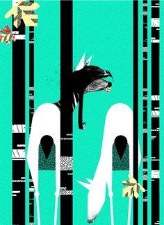 Multi talented creative Birgit Palma in an Austrian illustrator, designer, typographer and art director currently based in Barcelona. Illustrator, Illustration Inspiration, Pattern Images, Art Projects, Batman, Graphic Design, Superhero, Creative, Prints