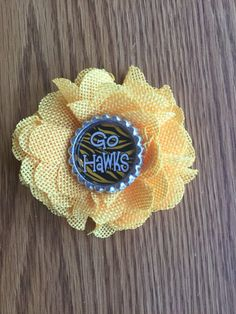 A personal favorite from my Etsy shop https://www.etsy.com/listing/516913877/iowa-hawkeyes-flower-hair-clip-with