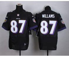 Baltimore Ravens 87 Williams Black 2015 Nike Elite Jersey