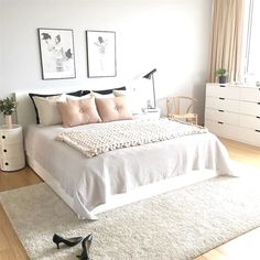 Scandinavian style is one of the most popular styles of interior design. Although it will work in any room, especially well in the bedroom. We advise how to decorate a bedroom in a Scandinavian style. Bedroom in Scandinavian Style is… Continue Reading → Scandinavian Bedroom Decor, Home Decor Bedroom, Modern Bedroom, Bedroom Ideas, Bedroom Designs, Scandinavian Design, Scandinavian Interior Bedroom, Scandinavian Living, Bedroom Themes