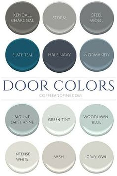 More & more people are painting their interior doors something other than their classic white trim colour, painting trims in a tone...