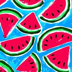 Want this print on your next tee? Pin & like it for it to win! *Wacky Watermelon*