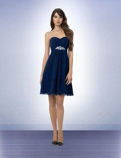 Bill Levkoff....Bridesmaid Dress Style 767  (Color: Navy)