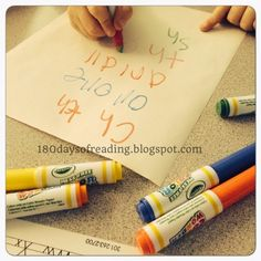 Crayola Color Wonder pens and paper make a great spelling center! 180 Days of Reading Kindergarten Reading Activities, Reading Games, Reading Resources, School Resources, Teaching Reading, Elementary Teaching, Primary Education, Spelling Centers, Reading Wonders