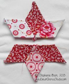 English Paper Piecing tutorial: stitching stars with diamonds.