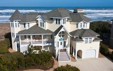 9BR, $?? for 2018 Outer Banks Vacation Rentals, Vacation Rental Sites, Beach Vacations, Best Beaches In Maui, Beach Cottage Exterior, Oceanfront Vacation Rentals, Beach House Plans, Beach Cottages, Beach Houses