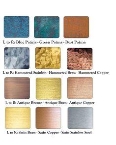 METALS FINISH GUIDE-(AB) Patina Metal, Bronze Patina, Patina Finish, Boho Kitchen, Copper Kitchen, Wood Siding, Exterior Siding, Metal Facade, Metal Texture