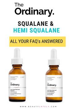 If you need a super effective moisturizer that is vegan and won't clog your pores, 100% Plant Derived Squalane is for you! This article will explain what squalane is, who it's most suitable for, how to use it, its benefits, and where to buy it. The Ordinary Plant Derived Squalane, Non Comedogenic Oils, The Ordinary Products, Acne Makeup, Flaky Skin, Makeup For Teens, Oil Benefits, Skin Elasticity, Acne Prone Skin