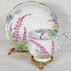 Royal Albert Teacup Saucer Foxglove Flowers  