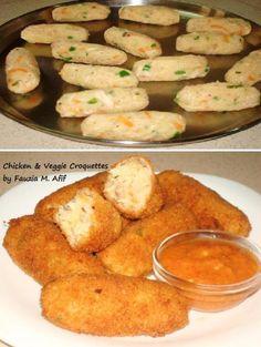 Chicken & Veggie Croquettes | Fauzia's Kitchen Fun