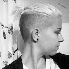 Short sides long top undercut hairstyle