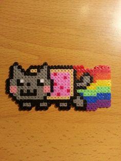 Nyan Cat hama perler beads by Carlos Gomez-Pabon Diaz