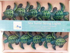 Sea Turtle String Lights | Beach Party Decorations | Ocean Theme Lighting