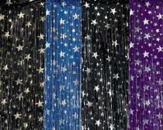 starry night prom decorations Some color options: Black & Silver Royal Blue & Silver Purple & Silver Vbs Themes, Dance Themes, Prom Themes, Wedding Themes, Wedding Ideas, Vbs Crafts, Space Crafts, Starry Night Wedding, Starry Nights