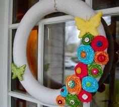 Paper Wings: Spring Wreath