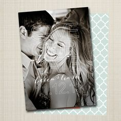 save-the-date modern save the date photo by westwillow on Etsy Modern Save The Dates, Save The Date Photos, Save The Date Postcards, Save The Date Magnets, Photo Editing, Dating, Wedding Photography, Invitations, Black And White