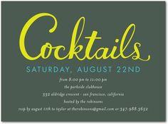 Cocktails Invitations