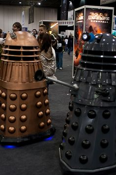 Doctor Who Cosplay: Daleks by crazybobbles