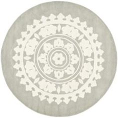 $305.99 Handmade Soho Chrono Grey/ Ivory New Zealand Wool Rug (8' Round) | Overstock.com