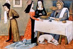 Black french dress.  Le potage  Heures de Charles d'Angoulême     Paris, BnF, Département des manuscrits, Latin 1173 fol. 1
