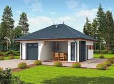 projekt Extra funkcjonalny SLN1361 Gazebo, Outdoor Structures, How To Plan, House Styles, Dom, House, Kiosk, Pavilion, Cabana
