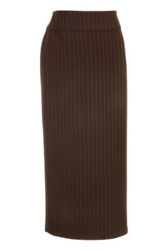 Busy Grey Pinstripe Ladies Long Skirt