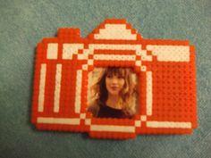 Camera Magnet Photo Frame hama perler by beadstoterabithia