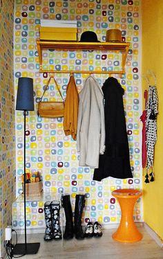 front closet idea. I love bright colors!