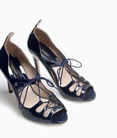 ZARA BLUE HIGH HEEL LACE UP SANDALS SHOES SIZE UK7/EUR40/US9