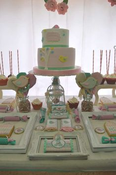 Deby B's Birthday / Birthday - Photo Gallery at Catch My Party 1st Birthday Photos, Birthday Parties, I Party, Party Ideas, Shabby Chic, 1st Birthdays, Little Birds, Meet, Birthday Celebrations