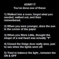 I thought I was the only one! lol