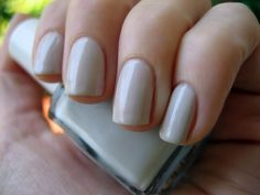 "new favorite nail color- Essie ""Great Expectations"""
