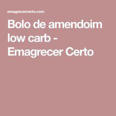 Bolo de amendoim low carb - Emagrecer Certo