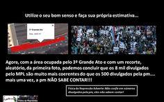 8 mil pessoas confirmadas por estimativa no 3º Grande Ato Contra a Tarifa no Tatuapé (via Física da Repressão)