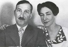 Stefan Zweig and Lotte Altmann, 1940 in Rio de Janeiro Two years at the height of the carnival of Rio, Stefan Zweig and his wife Lotte Altmann had committed suicide with Vironal. Hermann Hesse, Sigmund Freud, Comparative Literature, Testament, Stefan Zweig, One Decade, Conceptual Fashion, Pose, Reading Art