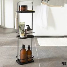 Buy the Tower Bath Rack Black by Yamazaki and more online today at The Conran Shop, the home of classic and contemporary design Bathroom Furniture, Bathroom Interior, Bathroom Remodeling, Bathroom Storage, Small Bathroom, Shower Storage, Serene Bathroom, Bathrooms, White Bathroom