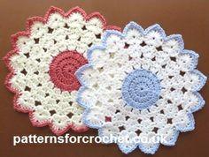 Free crochet pattern round table mat usa