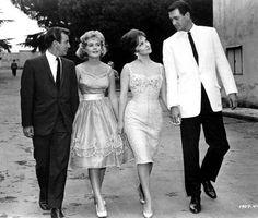 "magicofoldies: ""BOBBY DARIN, SANDRA DEE, GINA LOLLOBRIGIDA ROCK HUDSON - COME SEPTEMBER (1961) """