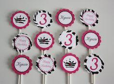 5M Creations: Hot Pink and Zebra Print Princess Party Set