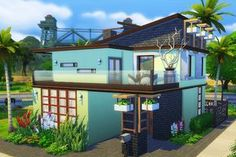 "Contemporary Loft ""Bachman"" | Sims 4 Houses"