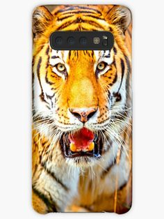 'Tiger' Case/Skin for Samsung Galaxy by DAM Creative Phone Case Websites, Galaxy Phone Cases, Samsung Galaxy, Phone Case Maker, Exotic Cats, Galaxy Design, Tiger, Protective Cases, Creative