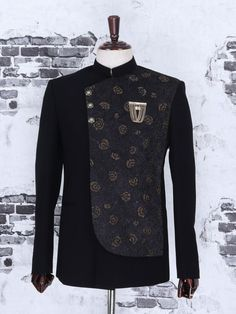Black Color Terry Rayon Fabric Jodhpuri Suit, Latest Designer men jodhpuri coat,Latest men jodhpuri coat for Party, Designer men jodhpuri coat for wedding, trendy men jodhpuri coat for function, shop online designer men jodhpuri coat, designer men jodhpuri coat 2019