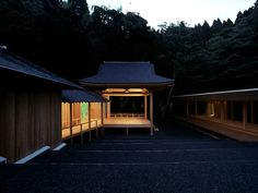 Noh Stage in the Forest by Kengo Kuma. Miyagi, Japan (1996).
