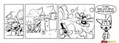 is building #sand #castle with Max. #hate #summer #comics #streetsmart #catslover #bro #friendshipneverend #pets #fun #friends #art #dailycomics #cute #happy #cats #bear #bearhug #blackandwhite #meow #plushtoy #plush #toy #catsfan #bearsfan #koala #koalasfan #SpudTheBear