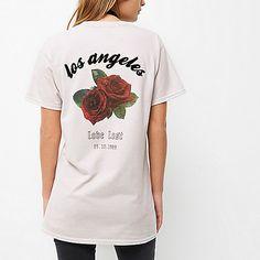 Taupe rose print boyfriend T-shirt - print t-shirts / vests - t shirts / vests…